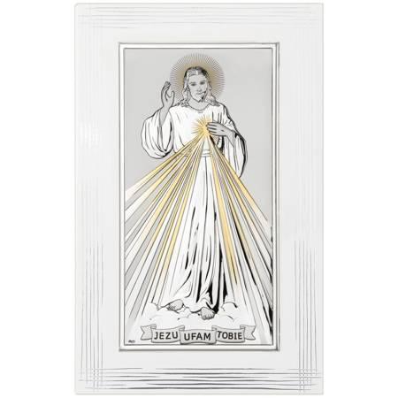 Obrazek srebrny Jezus Miłosierny DS26FORO