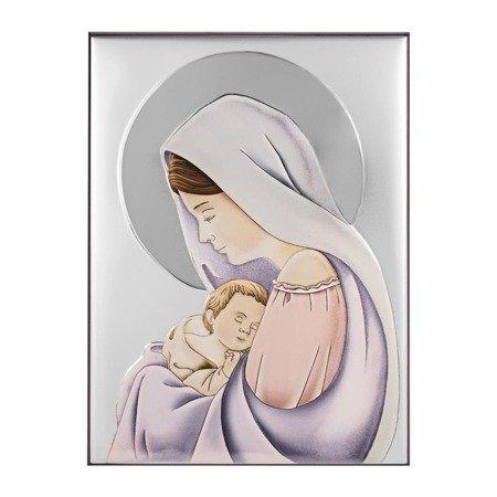 Obrazek srebrny Matka Boska z dzieciątkiem 30695CER