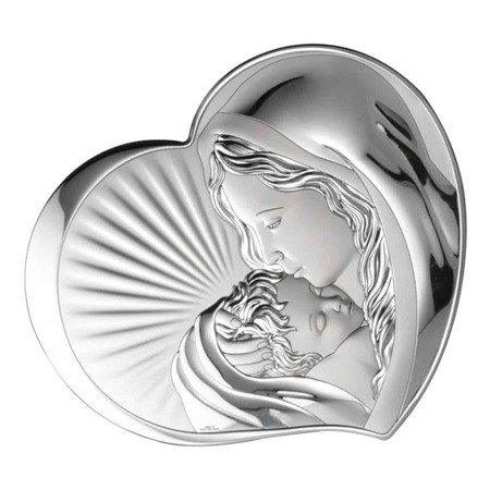 Obrazek srebrny Matka Boska z dzieciątkiem 81295