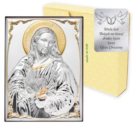 Obrazek srebrny Serce Jezusa 309812OROA