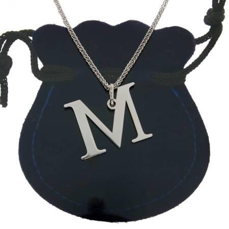 Przywieszka Srebrna literka M 2 cm pr.925