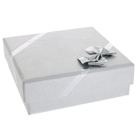 Pudełko z kokardą srebrne P40/1SREBRNE