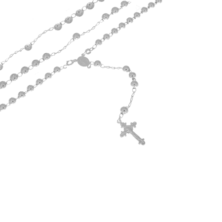 Różaniec srebrny - 5 dziesiątek 6,0mm srebro pr. 925 RC040