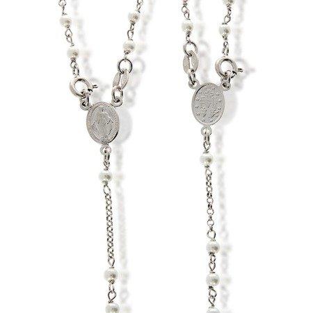 Różaniec srebrny - 5 dziesiątek na szyję 7,4-7,8 g, srebro pr. 925 RC005