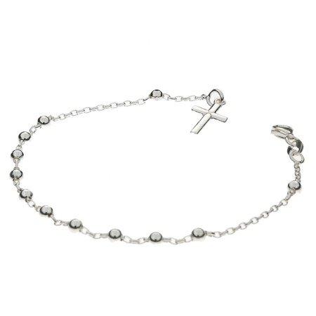 Różaniec srebrny - bransoletka na rękę, dziesiątek 2,3-2,7 g, srebro pr. 925 BRS03