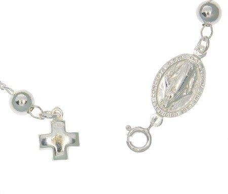 Różaniec srebrny - bransoletka na rękę, dziesiątka, 4,7-5,6 g, srebro pr. 925 BRP29