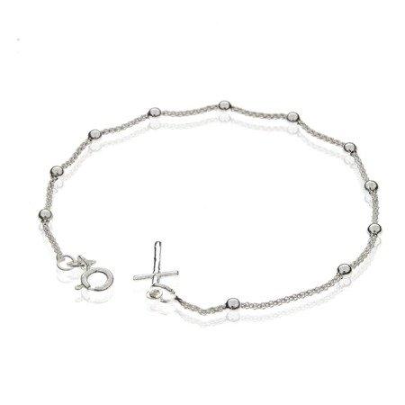 Różaniec srebrny - bransoletka różańcowa na rękę, dziesiątek, 1,9-2,3 g, srebro pr. 925 BRP12