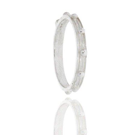 Różaniec srebrny obrączka na palec, rozmiary 9-25 Srebro pr. 925 RPM08