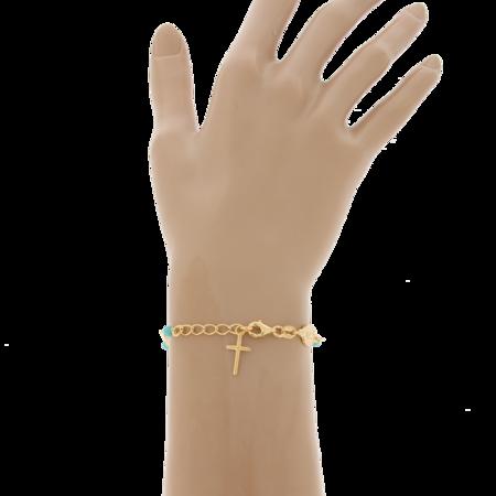 Różaniec srebrny pozłacany - bransoletka różańcowa na rękę, dziesiątka, 2,8-3,4 g, srebro pr. 925 BRS51