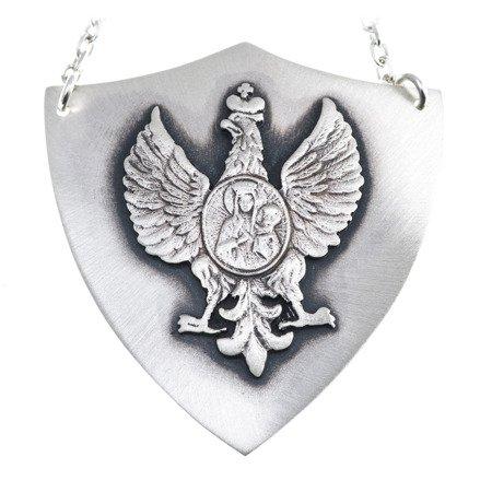 Ryngraf z orłem srebrny 925 Orzeł z Matką Boską R22