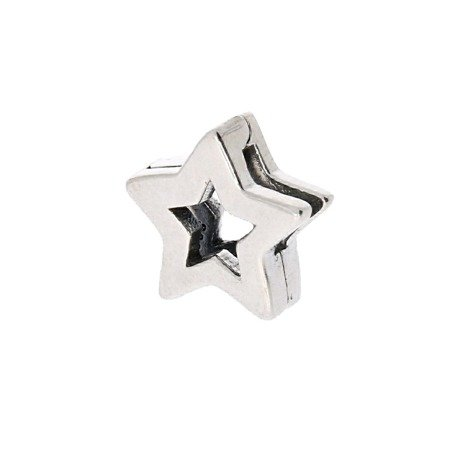 Srebrna przywieszka pr 925 Charms płaski gwiazdka PANP009