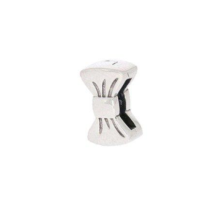Srebrna przywieszka pr 925 Charms płaski kokardka PANP019