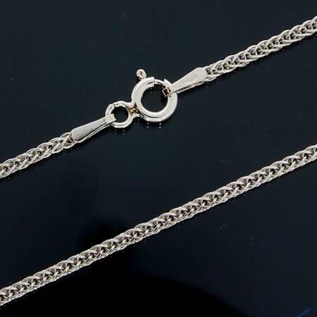 Zestaw naszyjnik literka D 2,0 cm z łańcuszkiem srebro rodowane pr 925