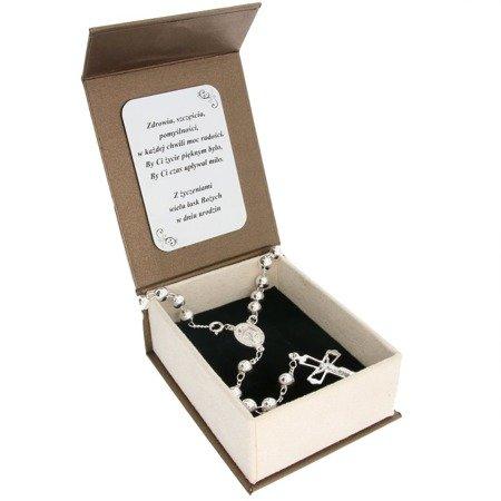 Zestaw różaniec srebrny - 5 dziesiątek 14,7g, 6mm srebro pr. 925 RC021/BA-6/A21