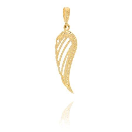 Złota przywieszka pr. 585 Skrzydło anioła z cyrkoniami ZP014