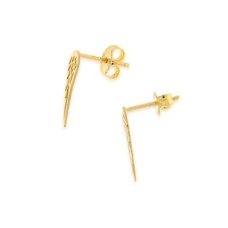 Złote kolczyki pr. 585  skrzydła anioła sztyft ZA015