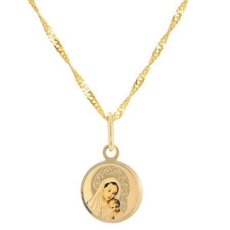 Złoty medalik pr. 585 M.B. z dzieciątkiem koło  ZM066