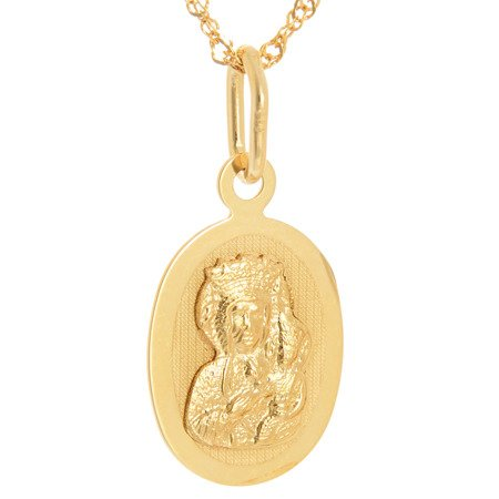 Złoty medalik pr. 585 Matka Boska Częstochowska  ZM089