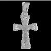 Medalik srebrny - Krzyżyk z wizerunkiem Jezusa MO137