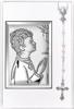 Zestaw Obrazek Srebrny Pamiątka I Komunii Świętej 31301 + różaniec