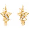 Złote kolczyki pr. 585 aniołek cyrkonie  ZA089