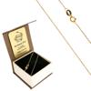 Złoty Łańcuszek w pudełku ozdobnym z grawerem pr. 585 Rolo 020 ZL021/BA-3